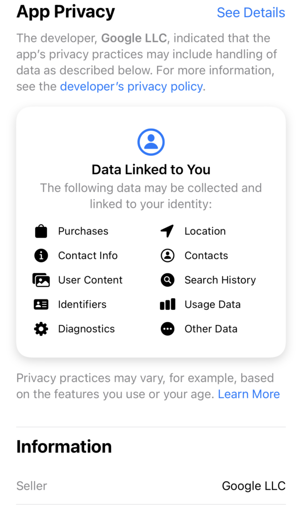 gmail ios privacy